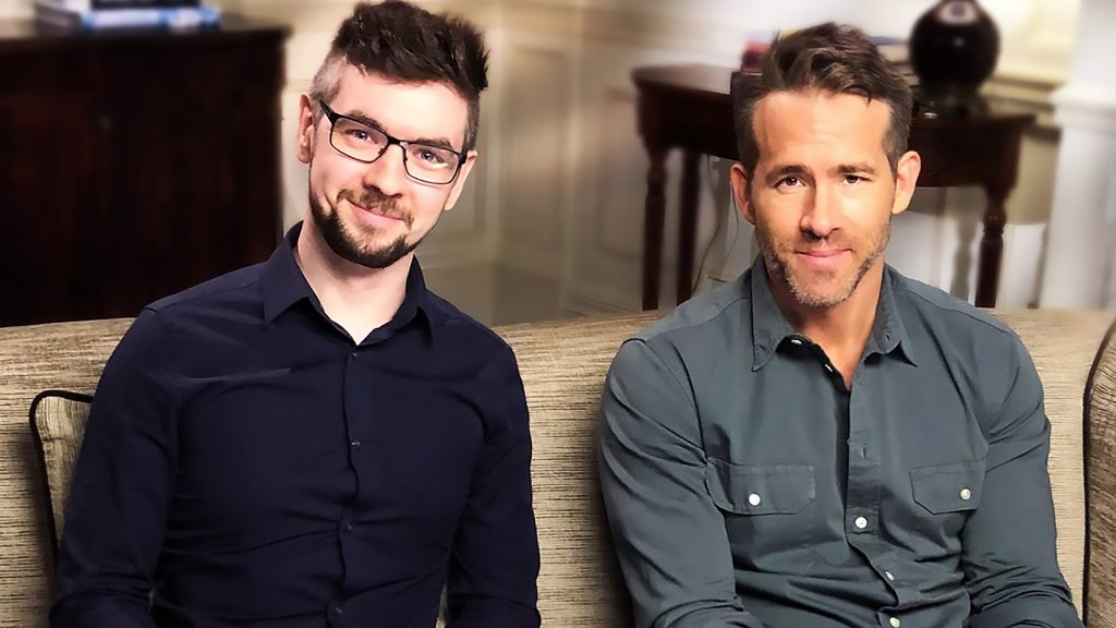 Sean McLoughlin with Hollywood actor Ryan Reynolds
