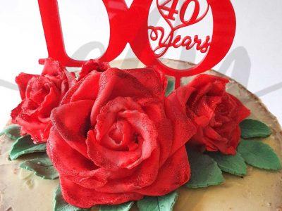 Wedding Anniversary Days Cake