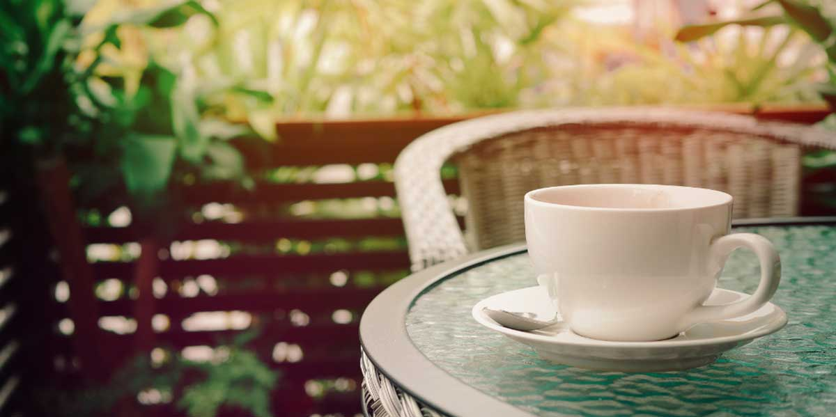 Morning Coffee Outdoors